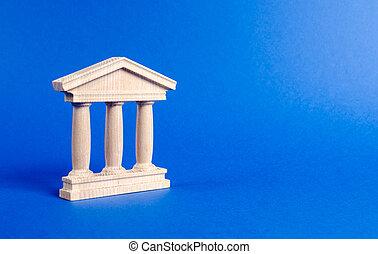 ciudad, edificio, administración, banco, monumento, pilares, educación, o, tribunal, style., universidad, arquitectónico, viejo, banca, concepto, government., library., estatuilla, antigüedad, city., parte