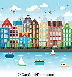 Ciudad en el río