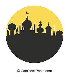 Ciudad islámica en un círculo