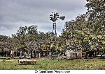 ciudad, johnson, molino de viento