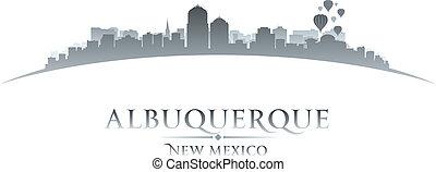 ciudad, méxico, albuquerque, ilustración, silhouette., contorno, vector, nuevo