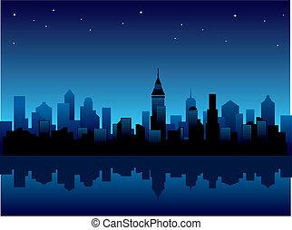 ciudad, noche