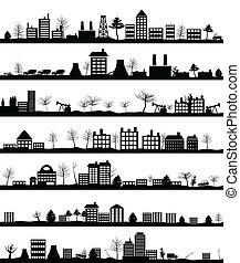 ciudad, paisaje