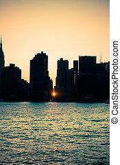 ciudad, york, nuevo
