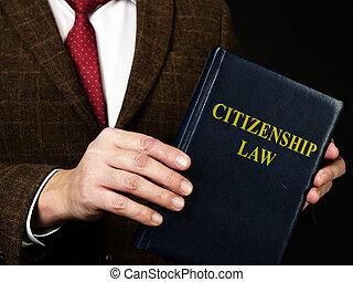 ciudadanía, law., traje, abogado