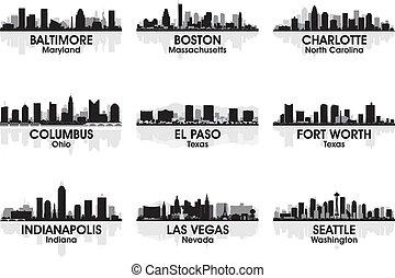 Ciudades americanas en el horizonte 2