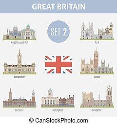 Ciudades famosas en el Reino Unido