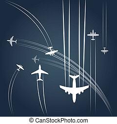 civil, airplanes`, transporte, trayectoria