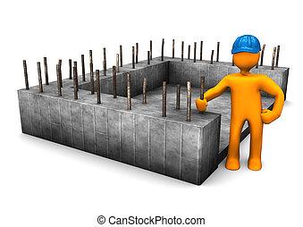 civil, fundación, ingeniero