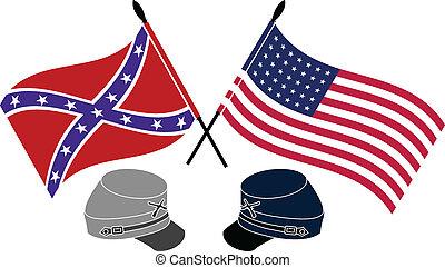 civil, norteamericano, guerra