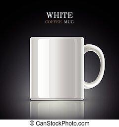 Clásica taza blanca