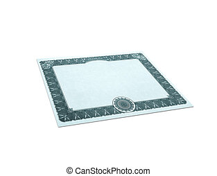 Clásico papel fronterizo de guillotina aislado en blanco
