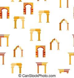 Clásico vector arco patrón sin costura