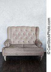 clásico, viejo, sillón