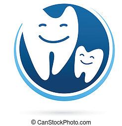 Clínica Dental vector icono de sonrisa