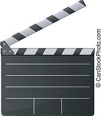 Clapper de cine. Vector
