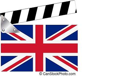 Clapperboard con Union Jack
