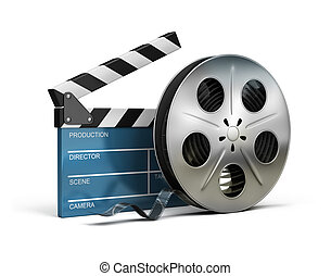 Claqueta de cine y cinta