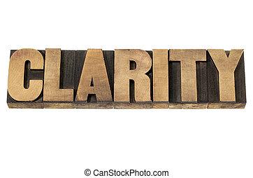 Claridad en tipo madera