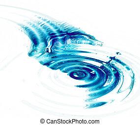 claro, ondas, agua, cristal, plano de fondo, blanco