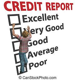 clasificación, mujer, construye, arriba, credito, raya, informe