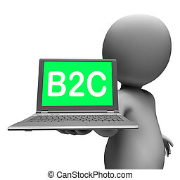 cliente, actuación, empresa / negocio, b2c, computador portatil, carácter, venta al por menor, consumidor, o