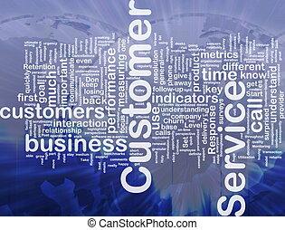 cliente, concepto, servicio, plano de fondo