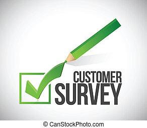cliente, ilustración, marca, encuesta, diseño, cheque