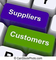 clientes, cadena, exposición, llaves, suppliers, suministro, distribución, o