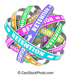 clientes, palabra, empleados, conservar, retención, ciclo