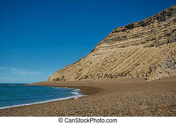 Cliff en Patagonia.