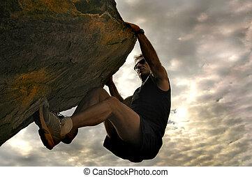 Cliff escalador