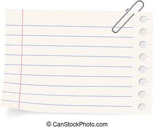 Clip y un pedazo de papel
