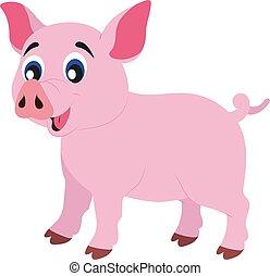clipart, vector, cerdo