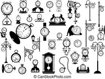 clocks, relojes