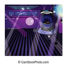 club noche, interior