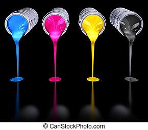cmyk, colores