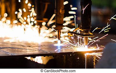 CNC LPG cortando