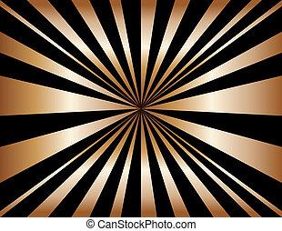 cobre, sunburst, plano de fondo