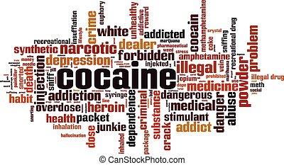 cocaína, nube, palabra