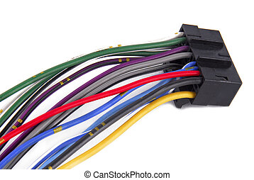 coche, audio, cableado, sistema, cable