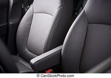 coche, cómodo, asientos