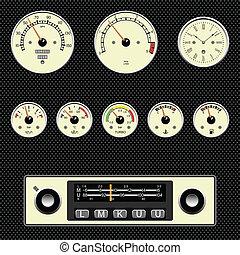 coche, calibradores