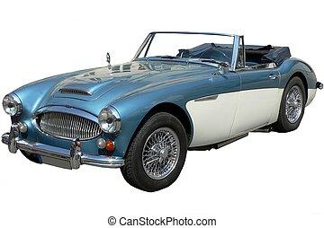 coche, clásico, británico, deportes