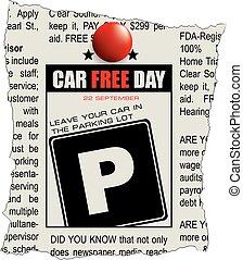 coche, día, libre