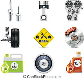 coche, p.3, servicio, icons.