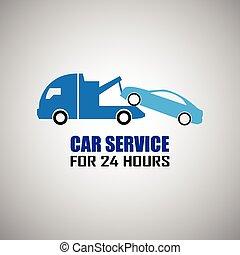 coche, remolcar, camión