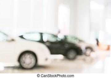 coche, resumen, sala de exposición, mancha