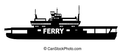 coche, transbordador, transportador