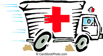 coche, vector, furgoneta, ambulancia